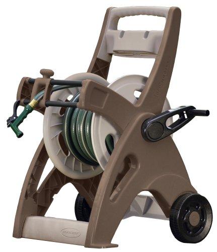 Suncast 175-Foot Capacity Hosemobile Garden Hose Reel Cart BronzeTaupe JTT175B