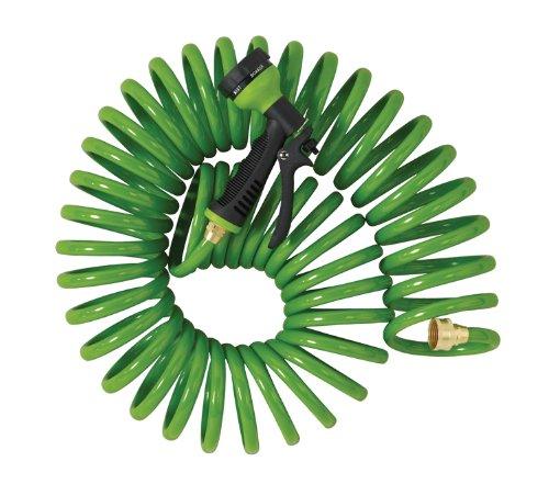 Orbit 27872 50-Foot Green Coil Hose 8-Pattern Turret Nozzle