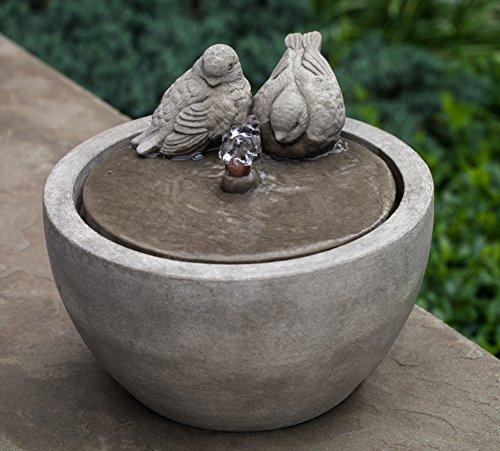 Campania International FT-267-VE M-Series Bird Fountain Verde Finish