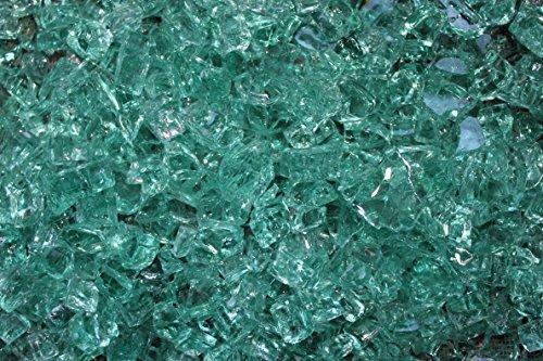 Irish Green Fire Glass 12 Firepit Glass Premium 10 Pound Great for Fire Pit Fireglass or Fireplace Glass