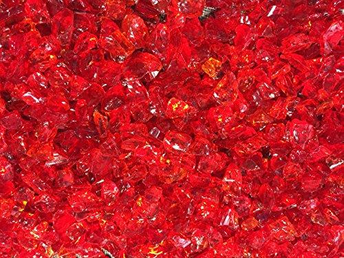 Molten Orange Crushed Fire Glass 12&quot-34&quot Firepit Glass 10 Pounds