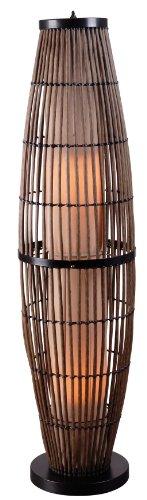 Kenroy Home 32248rat Biscayne Outdoor Floor Lamp Rattan Finish With Bronze Accents