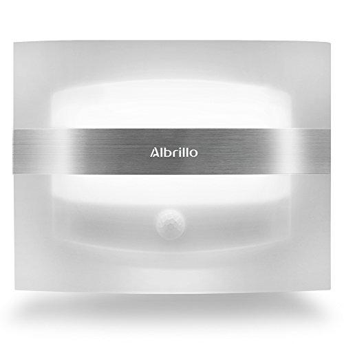 Albrillo Motion Sensor LED Wall Sconces Night Light Battery Operated