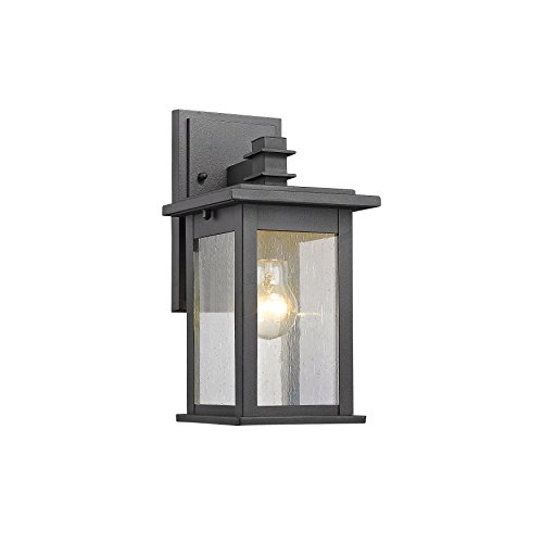 Chloe Lighting Ch822031bk12-od1 Transitional 1 Light Black Outdoor Wall Sconce 12&quot Height