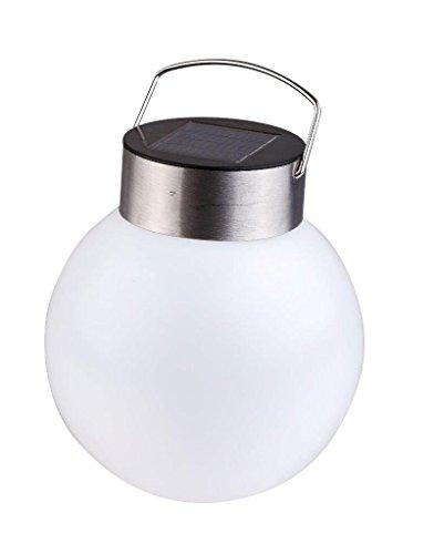 Lightahead Outdoor Solar Lights Garden Lights Waterproof Led Spherical Hanging Lamp Night Light Stainless Steel
