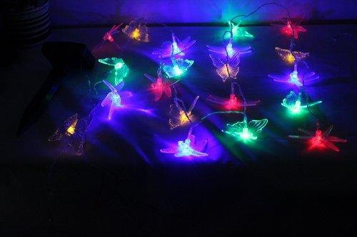 SunnytechÂsolar 20led Butterfly Dragonfly String Fairy Light Party Outdoor Garden Lamp
