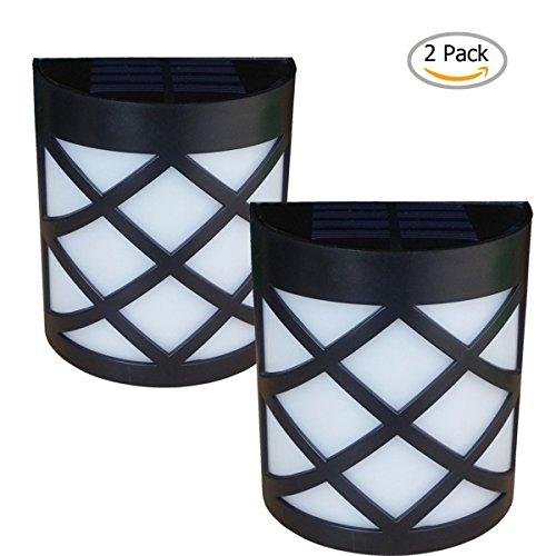 warm Light Solar Light For Wall Porch Garden Fence Path Sun Powered Outdoor Patio Deck Yard Lamp Dusk