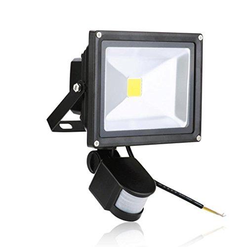 KAPATA 20W Motion Sensor LED Floodlight SuperBright Pure White Spotflood 6000K Induction Garden Wall Light For GarageYardHomeDrivewayStairsOutside Wall Exterior Security Lighting
