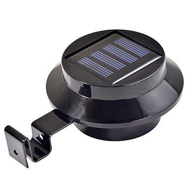 UR Outdoor Lights 3-LED Solar Powered Gutter Door Fence Wall Light Outdoor Garden Lighting