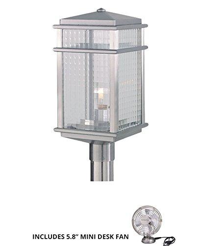 Feiss OL3408BRAL Monterrey Coast Outdoor Post Lighting 150watt Aluminum Includes Mini Desk Fan