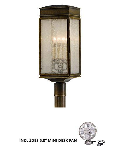 Murray Feiss OL7407ASTB Whitaker Outdoor Post Lighting 240 Watts Bronze Includes Mini Desk Fan
