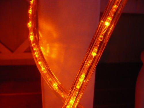 18ft Orange 3 Wire Chasing Led Rope Light Kit Christmas Lighting Outdoor Rope Lighting