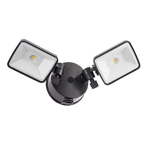 Lithonia Lighting Olf 2sh 40k 120 Pe Bz M4 2-head Dusk To Dawn Outdoor Led Square Flood Light Blackbronze