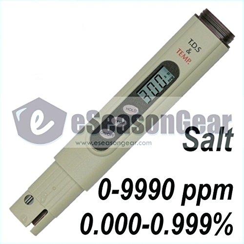 Eseasongear Salt-3000 Tester Digital Salinity Ppm Meter For Salt Water Pool And Koi Fish Pond