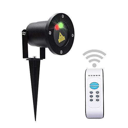 MICTUNING Multi-patterns Christmas Light Projector Star Show Waterproof with Wireless Remote Timer Garden Landscape Lighting for Party Valentine Wedding Halloween