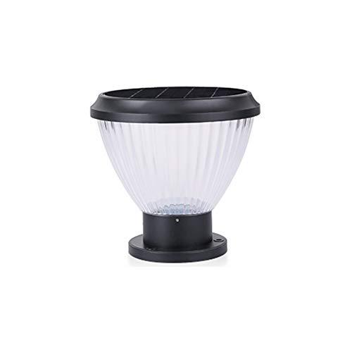 ForeverLighting FL-62410 Black Outdoor Waterproof Solar Pillar Lamp LED Porch Gate Villa Landscape Wall Lamp with Bulb