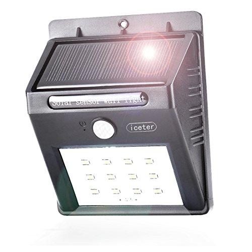 Iceter Bright Led Solar Lightsolar Motion Lightoutdoor Motion Sensor Lighting For Garden Patio Fence And Path