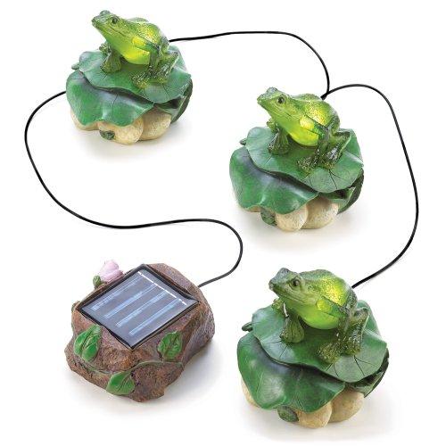 Solar Frog Trio Home Garden Path Lighting Patio Decor
