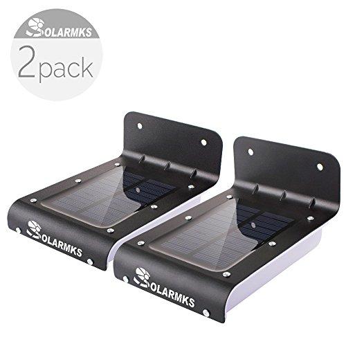 solarmks pm1116 solar lights black 16 led motion sensor solar yard lights outdoor pack of 2