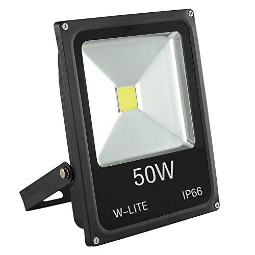 W-lite 50w Super Bright Led Floodlight Outdoor 3500lm 350w Halogen Bulb Equivalent Lighting For Gardenyard