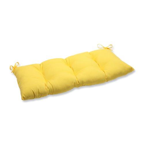 Pillow Perfect IndoorOutdoor Fresco Yellow SwingBench Cushion