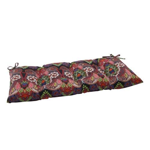 Pillow Perfect IndoorOutdoor Marapi Black SwingBench Cushion