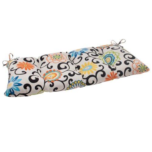 Pillow Perfect Indooroutdoor Pom Pom Play Lagoon Swingbench Cushion