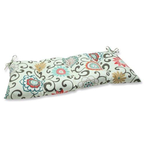 Pillow Perfect Indooroutdoor Pom Pom Play Peachtini Swingbench Cushion