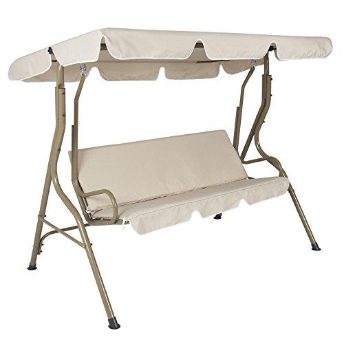 Gracelove Outdoor 2 Person Canopy Swing Glider Hammock Patio Furniture Backyard Porch