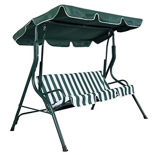 Giantex Green Outdoor Patio Swing Canopy 2 Person Awning Yard Furniture Hammock Steel