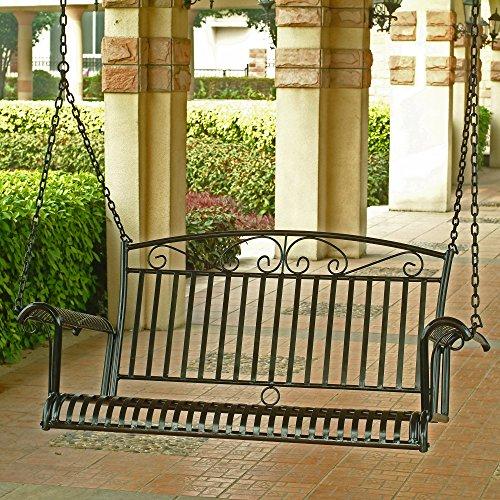 Tropico Wrought Iron Hanging Porch Swing