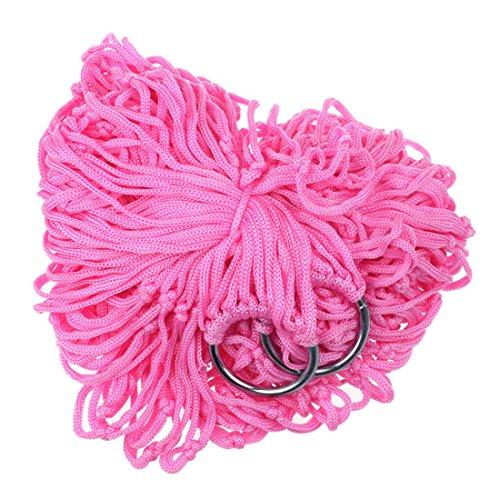 Sankuwen® Outdoor Swing Net Dorm Room Bed Dormitory Comfort Hammock (pink)