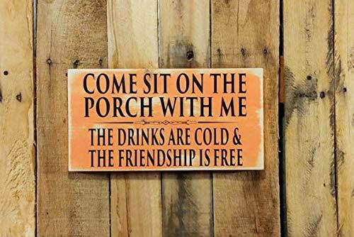 CELYCASY Porch Sign - Porch Decor - Porch Decorations - Wood Porch Signs - Porch - Wooden Porch Signs - Porch Designs - Porch Sayings - Deck Signs