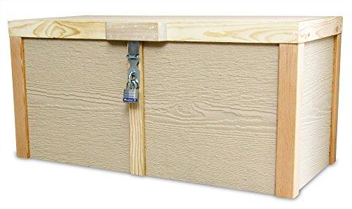 Lockable Wooden Porch Box Parcel Box or Deck Box