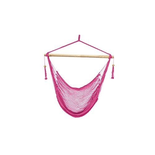 Patio Plus - Easy hang Island Rope Hammock Chair - Pink