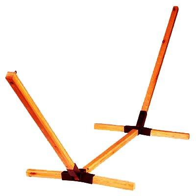 Deluxe Triple Beam Wooden Hammock Stand wBonus Hammock