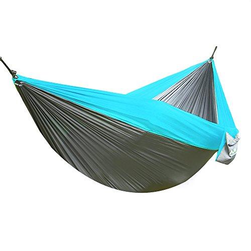 Arctic Monsoon Double Hammock 210t Parachute Portable Nylon Fabric 2 Person Camping Hammock With Oxford Tree