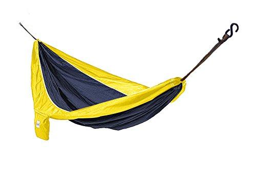 Hammaka Parachute Silk Lightweight Portable Double Hammock BlueYellow