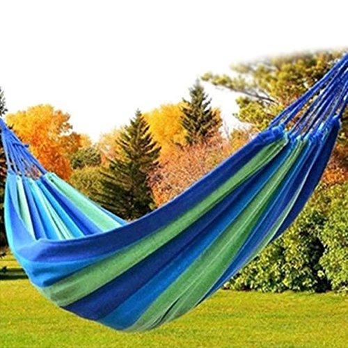 Portable Double Hammock Canvas Garden Swing Camping Parachute Hammock Outdoor Furniture