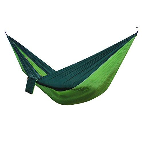 Sminiker portable parachute Camping Hammock with hammock swing straps for outdooor travelIndoor Camping Hiking Backpacking BackyardGreen