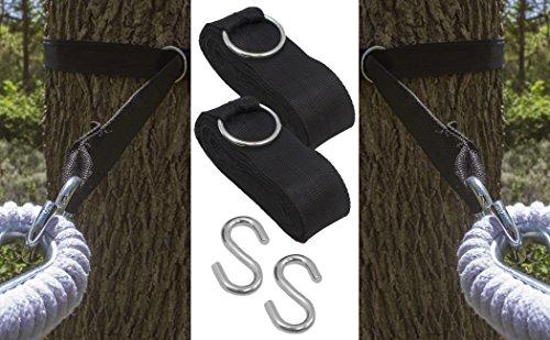 sorbus   hammock tree hanging straps  u2013 adjustable woven non stretch straps for hammock chair swing suspension top 7 best tree hammock chairs 2018  rh   gardenproductsreviews