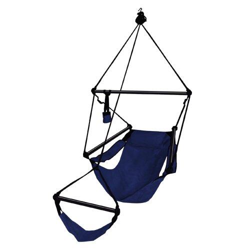 Hammaka Hanging Hammock Air Chair Aluminum Dowels Blue