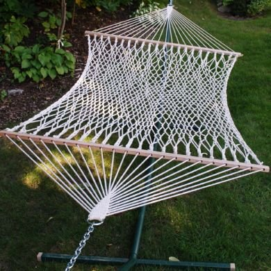 Single Cotton Rope Hammock Without Stand