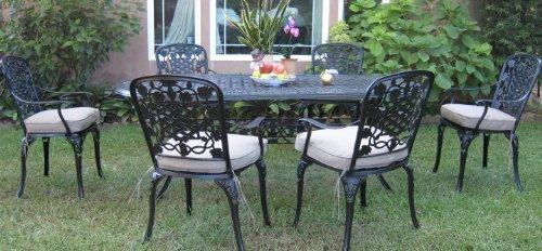 Outdoor Cast Aluminum Patio Furniture 7 Piece Dining Set F Cbm1290