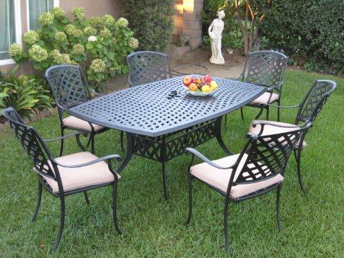 Outdoor Cast Aluminum Patio Furniture 7 Piece Dining Set Kl4272 Cbm1290