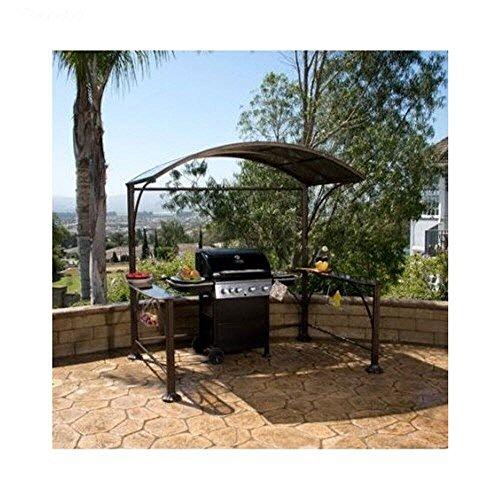 Gazebo Small Backyard Metal Curved Hardtop Grill Kit Perfect Outdoor Patio Furniture Satisfaction Guaranteed