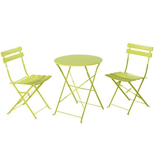 Grand Patio Steel Folding Outdoor Furniture Set For Bistro Patio Backyard Patio Furniture Sets 3 Pcs Set Of