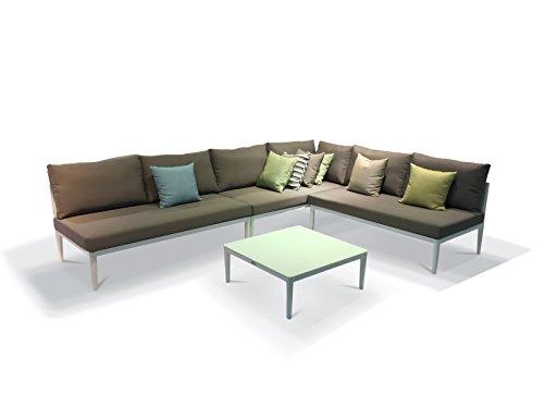 Urbanfurnishingnet - 2017 Palazzo 4pc Modern Outdoor Backyard Patio Furniture Sofa Sectional Couch Set