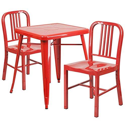 Indoor-Outdoor Table Set Red