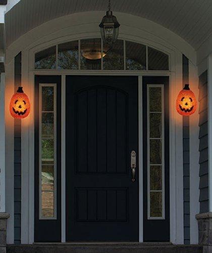 Seasons Sparkling Pumpkin Porch Light Cover (set Of 2)